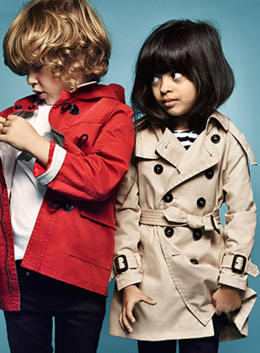 Laila models for Burberry!