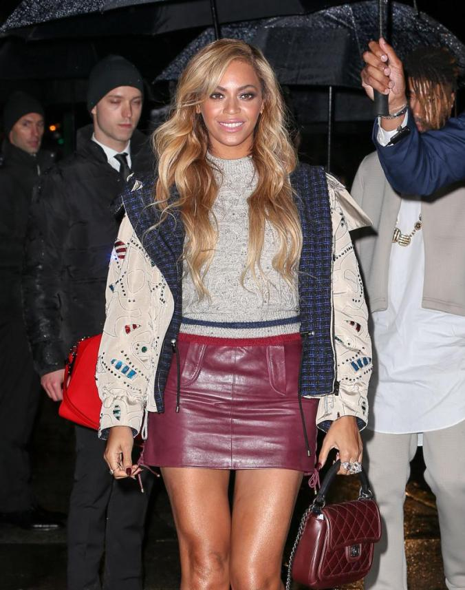Beyonce is all smiles as she arrives at Karl Lagerfeld's Chanel event in NYC